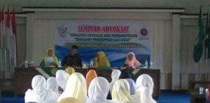 Seminar advokat oleh nasiatul aisyiyah