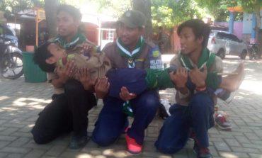 Qobilah MTsM 5 Payaman, Latihan Evakuasi Korban Kecelakaan